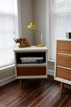 Mid-Century Nightstand - love the two-tone look