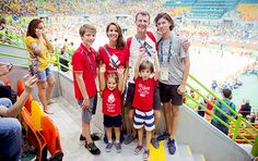 The Danish Royal Family Prince Joachim and Princess Marie with their four children Prince Nikolai, Prince Felix, Prince Henrik and Princess Athena watching a handball match between Denmark and Argentina at the 2016 Olympic Games in Rio on August 7th, 2016.