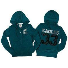 Women's Philadelphia Eagles Ash Favorite Team Boat Neck Drop Shoulder Long Sleeve T-Shirt