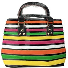 Spring Handbag Shoulder Tote Bag STRIPES NEW New with tags. Great Spring Handbag with organization dividers in the middle. I ship same day or next 📦 📦 🚫🚫NO TRADES🚫🚫 Love to bundle - discount with bundle only 🎀🎀 Lil+Lo Bags Totes