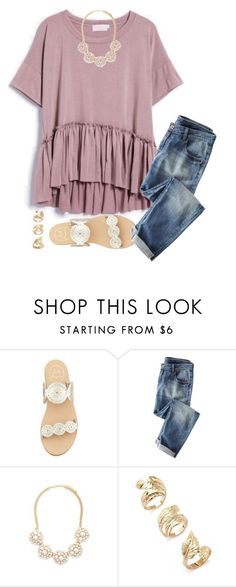 """Collab w/ Alyssa!"" by toonceyb ❤ liked on Polyvore featuring moda, Jack Rogers, Wrap y Forever 21"