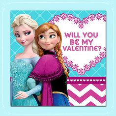 Printable Frozen Valentine's Day Card Anna by ItsACowsOpinion