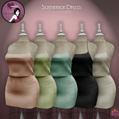 Nyas Summer Dress Gift. The soft textured summer dress from Nya is a free group gift. You will receive five sizes. The dress includes a HUD