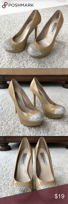 Swarovski Crystal Toe Steve Madden Pumps Size 7