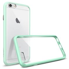 Spigen iPhone - Ultra Hybrid - Mint - Let our Ultra Hybrid? case protect your iPhone in clear transparency. Iphone 7 Plus, Case Iphone 6s, Ipod Cases, Cute Phone Cases, Iphone 6 Cases Clear, Coque Ipad, Coque Iphone 6, Apple Iphone 6, Accessoires Iphone