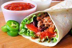 Recette facile de burritos mexicain à la viande!