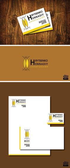 Diseño de Logotipo Rytsenko Hennadiy. Empresa de construcción. Diseño Triloby estudio