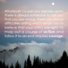 Ralph Waldo Emerson Courage quote