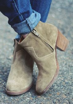 "Short and Sweet. ""Zipcode"" Booties by Madewell!"