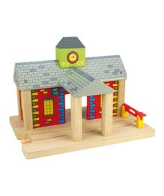 Another great find on #zulily! Railway Station by Bigjigs Toys #zulilyfinds
