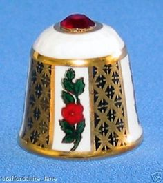 RED ROSE THIMBLE BY SUTHERLAND-RUBY SWAROVSKI  TOP