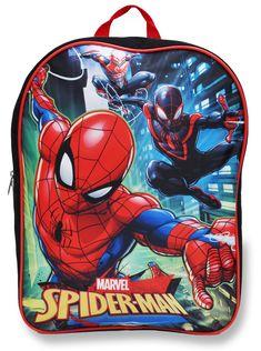 Marvel Spiderman Red Blue PreK 15 School Boys Backpack Bookbag Kids Children - Ideas of Bookbags Spiderman Backpack, Marvel Backpack, Boys Backpacks, School Backpacks, Miles Morales Spiderman, 3 Minions, Spiderman Movie, Toddler Backpack, School Boy