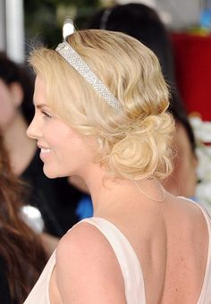 Charlize Theron inspired updo