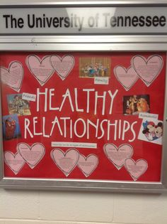 Healthy Relationships educational bulletin board, simple and to the point February Bulletin Boards, College Bulletin Boards, Health Bulletin Boards, Dorm Door Decorations, Valentines Day Bulletin Board, Ra Bulletins, Ra Boards, Residence Life, Resident Assistant