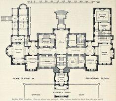 Floor plan of the extended Jardine Hall, Dumfries