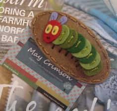 Hungry, Hungry Caterpillar hair clip!