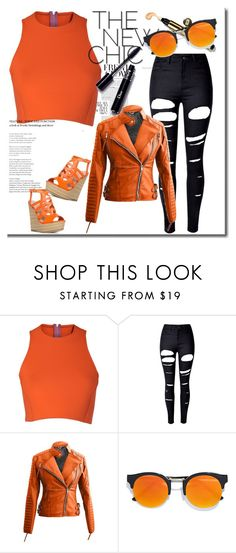 """""""orange is my passion"""" by elastiiic-babe ❤ liked on Polyvore featuring Sydney-Davies, WithChic and LULUS"""