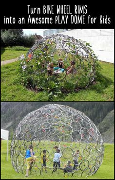 Here's a gallery showing how you can change the future by upcycling some of those bicycle parts...