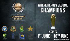 Icc Champions Trophy Schedule 2017 Time Table,Matches Venue, Fixtures
