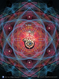 Hamsa - CHAI- Sacred Geometry by Olga-Kuczer on DeviantArt