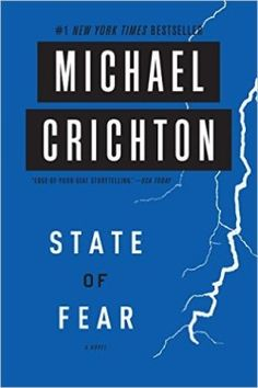 http://bookbarbarian.com/state-of-fear-by-michael-crichton/ New York Times bestselling author Michael Crichton delivers another action-packed techo-thriller in State of Fear.  When a group of eco-terrorists engage in a global conspiracy to generate weather-related natural disasters, its up to environmental lawyer Peter Evans and his team to uncover the subterfuge.  From Tokyo to Los Angeles, from Antarctica to the Solomon Islands, Michael Crichton mixes cutting edge scien