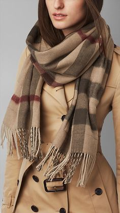 Check Wool Cashmere Stole | Burberry