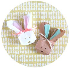 Bunny Bags by Love. Luck. Kisses & Cake, Easter, Easter Bunny, Easter basket, Spring, Easter crafts, Spring Crafts, DIY, free tutorial