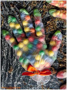 Halloween glove treat bags