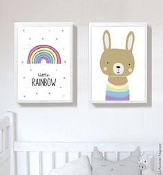 Affiches Rainbow / Arc-en-ciel / Décoration pour enfants / Cadeau naissance / La Roulotte Magique