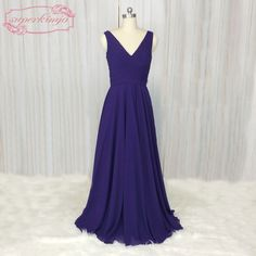 Long Gown For Wedding, Wedding Party Dresses, Wedding Bride, Royal Blue Bridesmaid Dresses, Beautiful Bride, China, Chiffon, Formal Dresses, Free Shipping