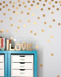 Simple Removable Polka Dots Round Circle Art Mural DIY Wall Stickers Home Decor Polka Dot Walls, Polka Dot Wall Decals, Wall Stickers, Nursery Stickers, Floor Stickers, Window Stickers, Arts And Crafts Storage, Craft Storage, Storage Ideas