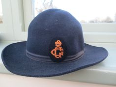 Vintage Girl Guides hat with badge