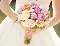 pink, white, peach luscious bouquet