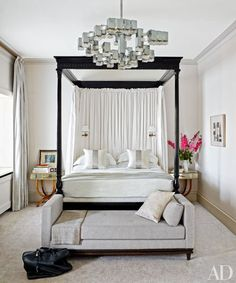 London Master Bedroom with four poster bed