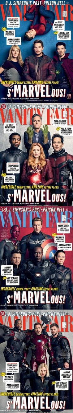 Vanity Fair's Avengers covers