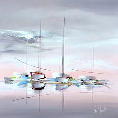 Oeuvre d'art marine Evasion Maritime de l'artiste Eric Munsch - My CMS Landscape Art, Landscape Paintings, Sailboat Painting, Seascape Art, Boat Art, Acrylic Art, Contemporary Paintings, Oeuvre D'art, Painting Techniques