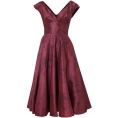 Ariella Rose print taffeta dress ($220) ❤ liked on Polyvore