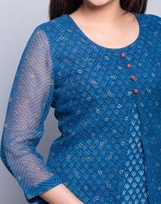 Kurta Designs Women, Salwar Designs, Kurti Neck Designs, Dress Neck Designs, Kurti Designs Party Wear, Blouse Designs, Diwali Dresses, Diwali Outfits, Layered Kurta