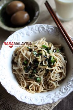 Chinese Recipes, Chinese Food, Asian Recipes, Ethnic Recipes, Oriental Noodles, Asian Noodles, Soto Ayam Recipe, Healthy Food, Healthy Recipes