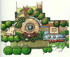 Love Your Lawn: Landscaping Ideas And Inspiration - House Garden Landscape Architecture Concept Drawings, Landscape Architecture Drawing, Landscape Sketch, Landscape Design Plans, Garden Design Plans, Landscape Drawings, Architect Drawing, Parking Design, Autocad