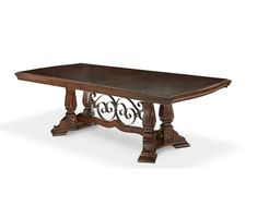 AICO Furniture - Windsor Court Rectangular Dining Table in Vintage Fruitwood - 70002L2-54