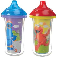 Shop for Munchkin Purple/Yellow Sesame Street Click Lock Insulated Sippy Cups (Set of Get free delivery On EVERYTHING* Overstock - Your Online Feeding Shop! Toddler Age, Toddler Stuff, Babies Stuff, Baby Supplies, Pink Houses, Cupping Set, Cool Baby Stuff, Kid Stuff, Purple Yellow