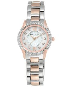 758851cd7a5 Anne Klein Women s Two-Tone Crystal Mixed Metal Bracelet Watch 28mm  2161MPRT Anne Klein Watch
