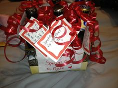 Easy gift for boyfriends: buy 6 different beers with love notes on each . Perfect for valentines or birthdays!