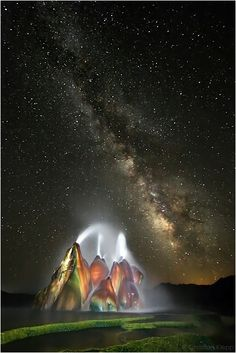 ~~Moments of Eternity | nightscape of Fly Geyser, Washoe County, Nevada by Christian Klepp~~