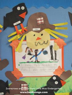 Heidisongs Resource: Fall Bulletin Boards to Crow About!