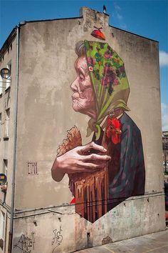 Mural in Lodz, Poland (2013) by Etam Cru