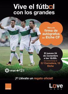 HOY a las 18h. FIRMA+REGALOS conoce a los jugadores del Elche Club de Fútbol Álex Fernández y Rober Correa