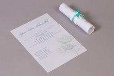 Menta kék szalaggal és csipkével díszített esküvői meghívó _ mint blue and lace wedding invitation Place Cards, Place Card Holders, Personalized Items, Mint