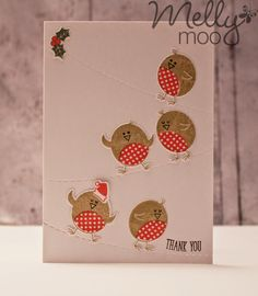 Mellymoo papercrafting: Birds on a wire Rockin Robin, Paper Crafts, Diy Crafts, Christmas Cards To Make, Card Sketches, Xmas, Birds, Cardmaking, Stamping